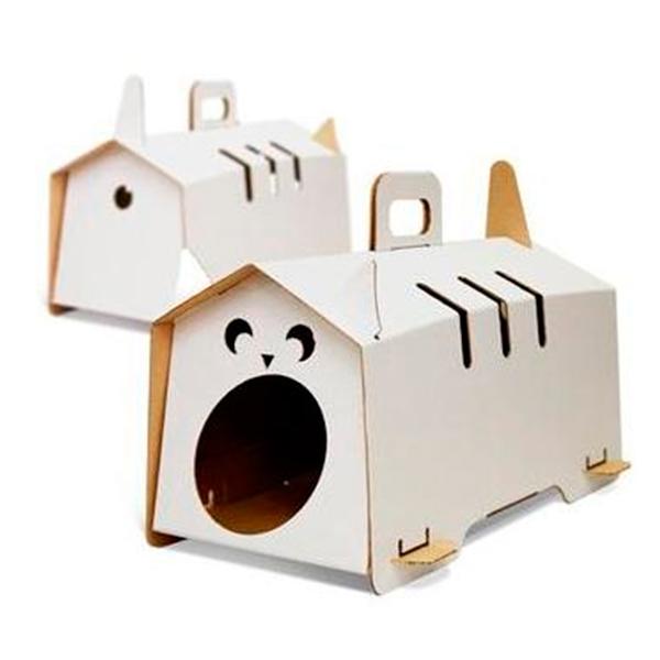 Как из картона сделать домик для кота