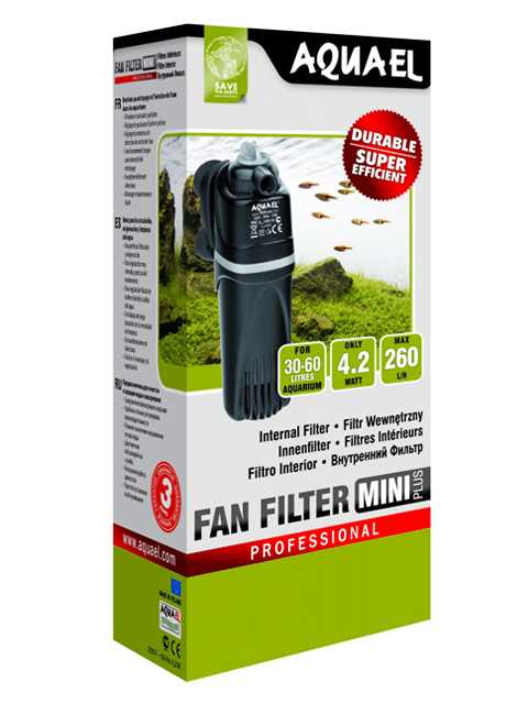 AquaEl (АкваЭль) FanFilter mini plus - фильтр (30-60л) 260л/ч 4,2Вт