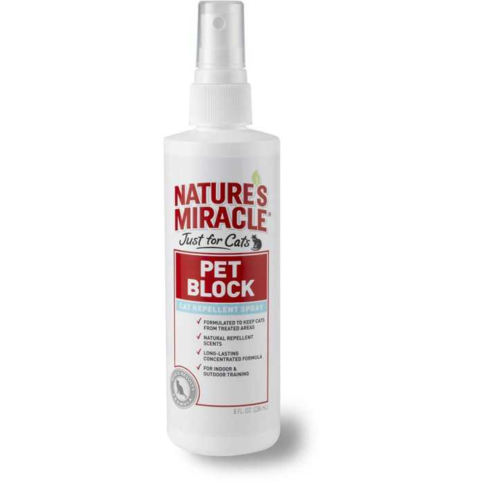 8in1 (8в1) Natures Miracle For Cats Pet Block-Repellent Spray - Отпугивающий спрей для кошек