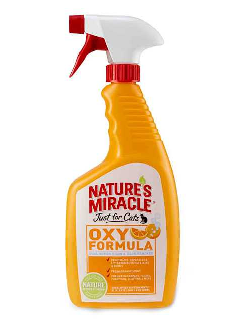 8in1 (8в1) Natures Miracle For Cats Stain&Odor Remover Orange Oxy Power - Уничтожитель запаха и пятен