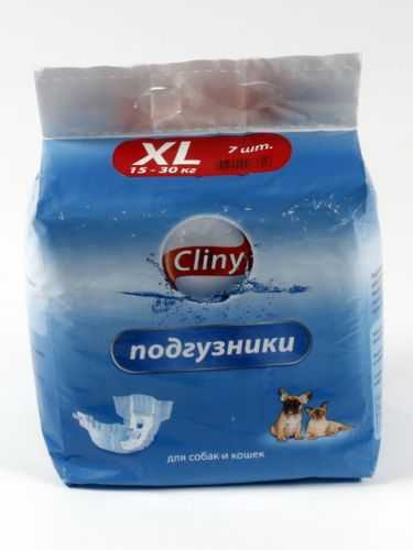 Cliny (Клини) - Подгузники для собак и кошек Cliny-XL (15-30 кг)